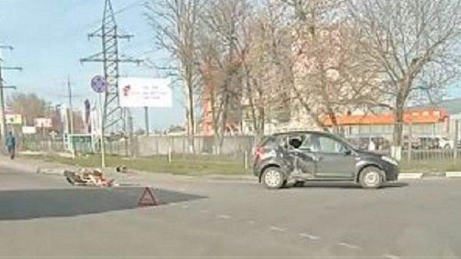 Мотоциклист пострадал в ДТП в Туле
