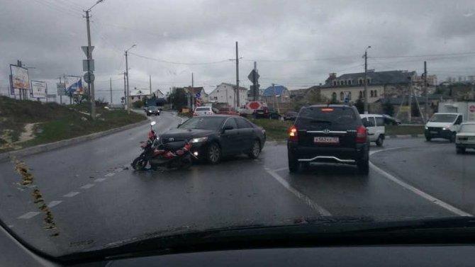17-летний мотоциклист пострадал в ДТП в Севастополе