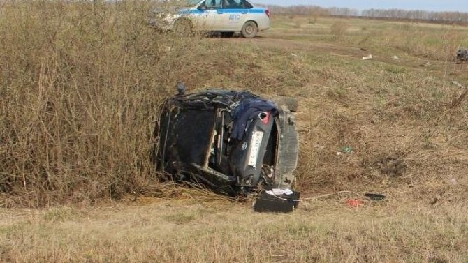 В Мордовии при опрокидывании машины погиб человек