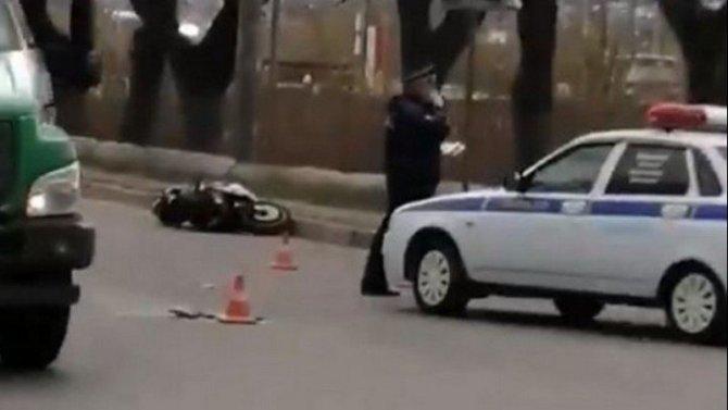 Мотоциклист погиб в ДТП в Брянске