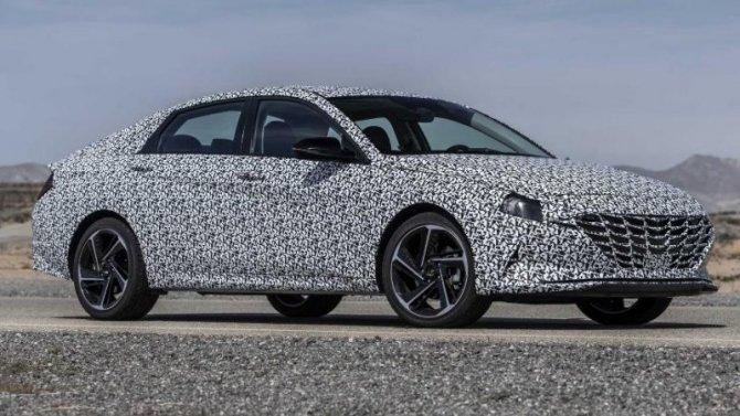 Начались испытания «заряженного» седана Hyundai Elantra NLine