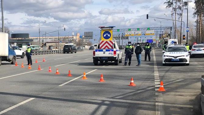 Пандемия: навсех въездах вМоскву выставлены наряды Госавтоинспекции