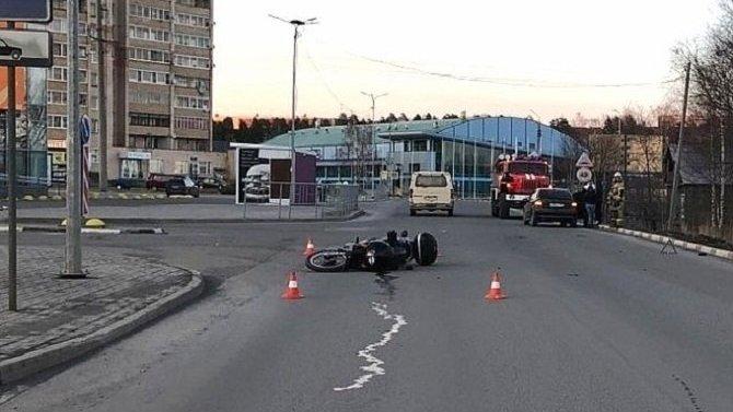 В ДТП в Кондопоге пострадал мотоциклист