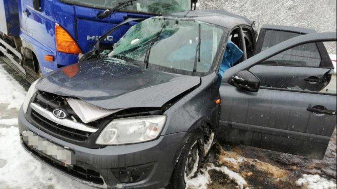 В ДТП с грузовиком в Белорецком районе Башкирии погиб мужчина