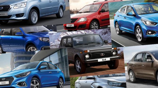 Все самые дешёвые автомобили, доступные для покупки вРоссии
