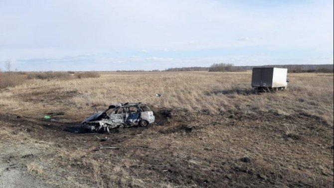 Два человека погибли в ДТП с возгоранием под Челябинском