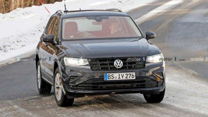Гибридная версия Volkswagen Tiguan вышла на испытания