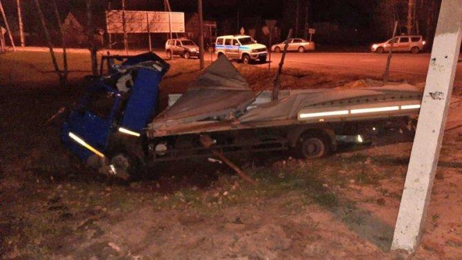В ДТП под Мичуринском погиб водитель МАЗа