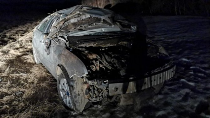 Водитель погиб при опрокидывании машины в Шарлыкском районе