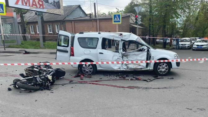 Мотоциклист погиб в ДТП во Владикавказе
