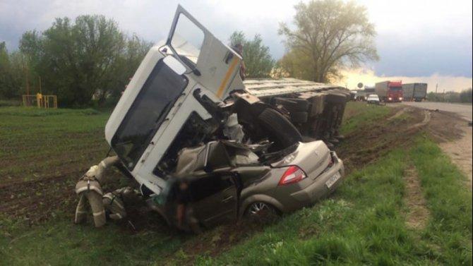 Мужчина погиб в ДТП с грузовиком в Воронежской области