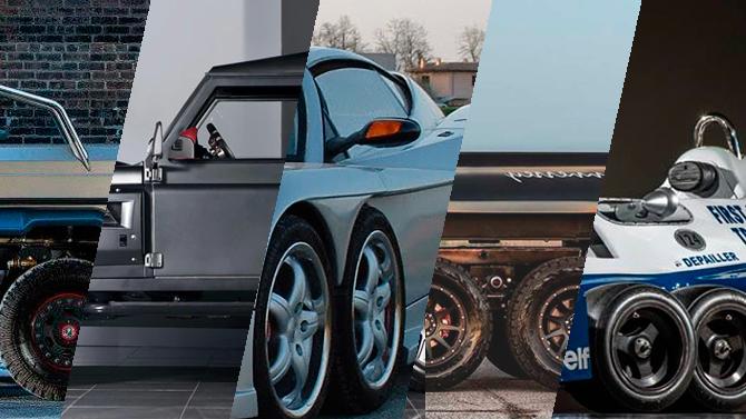 Топ-5 необычных шестиколёсных автомобилей - от внедорожного пикапа до болида