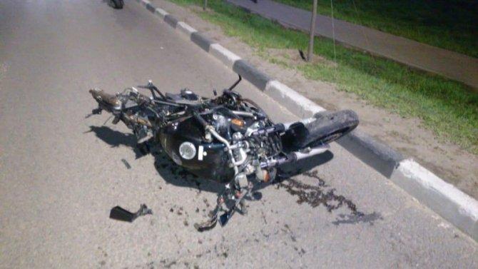 Мотоциклист погиб в ДТП в Туле