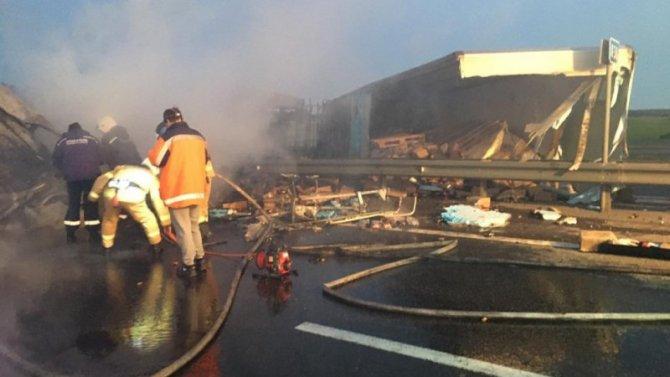 В Ростовской области в горящей фуре погиб водитель