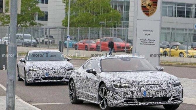 Наиспытания выехал прототип Audi e-TronGT