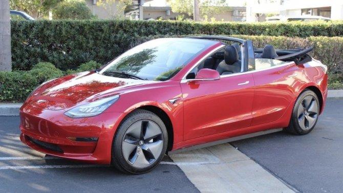 Tesla Model 3 стала кабриолетом