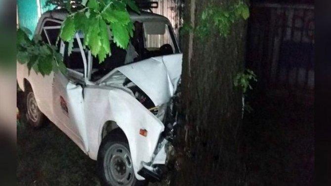 В Краснодарском крае ВАЗ врезался в дерево – погибла женщина