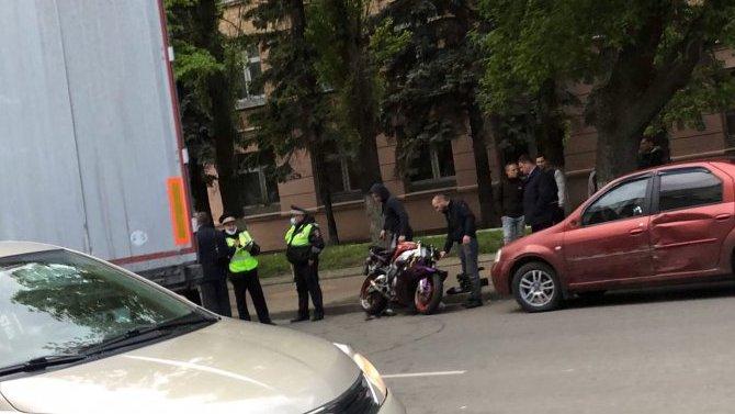 Мотоциклист пострадал в ДТП в Орле