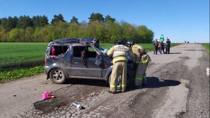 В Орловской области при опрокидывании машины погиб человек
