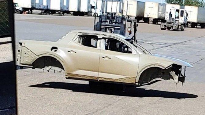 Сфотографирован кузов пикапа Hyundai Santa Cruz