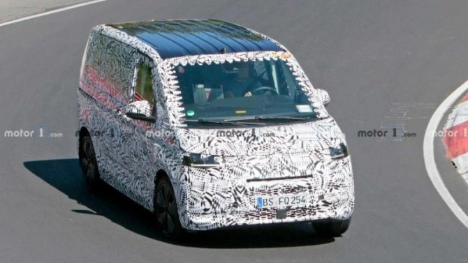 Начались испытания гибридного Volkswagen Transporter