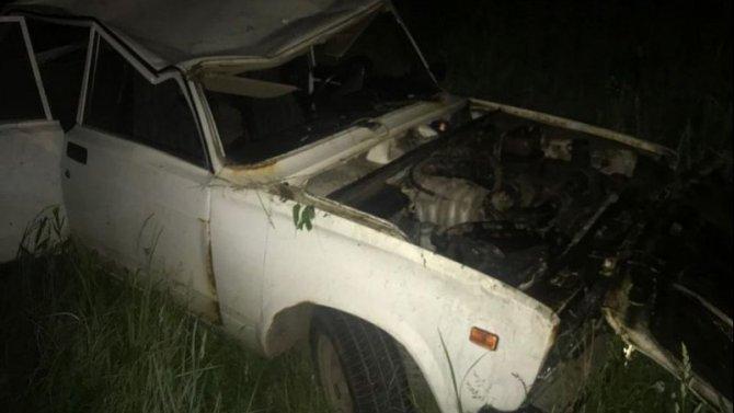 В Тверской области опрокинулся ВАЗ с ребенком за рулем