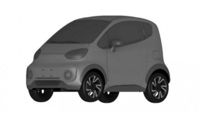 Фирма Zotye запатентовала новый электромобиль