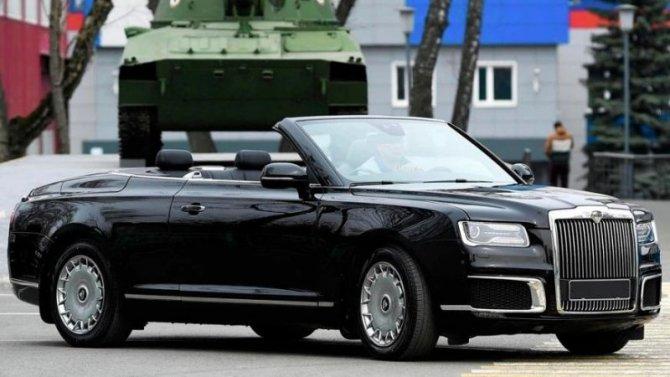 Появились подробности опарадном кабриолете Aurus