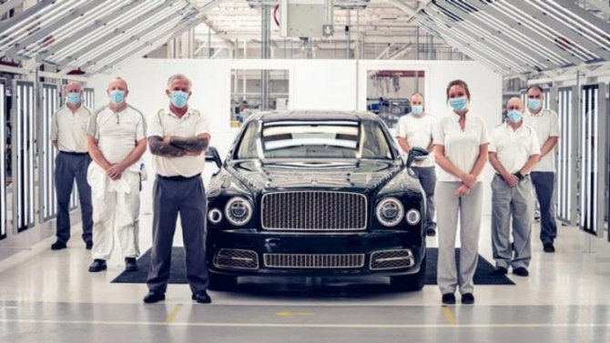 Bentley Mulsanne покидает конвейер