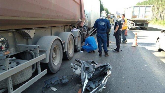 В ДТП с грузовиками в Томской области погиб человек