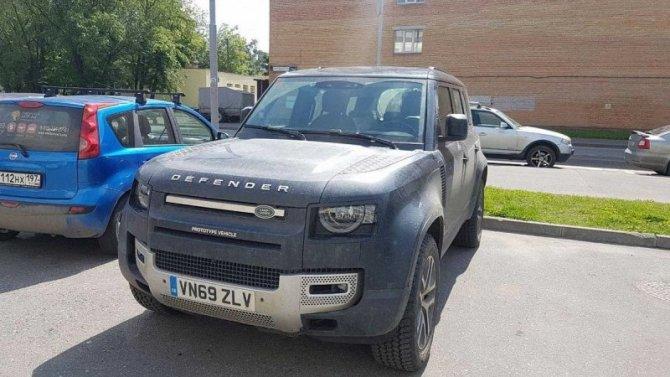 ВМоскве замечен новый Land Rover Defender