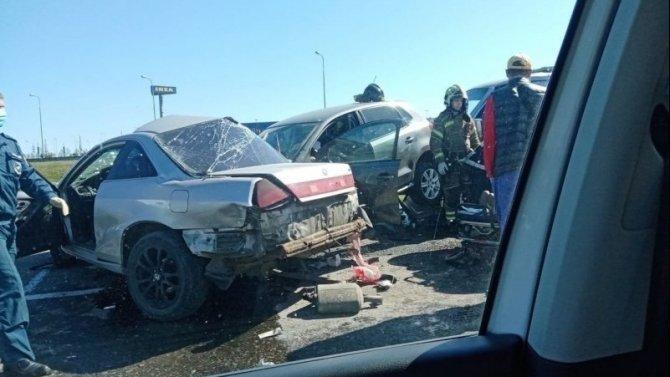В ДТП на КАД пострадали два человека