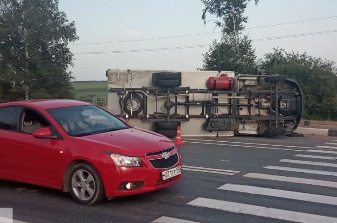 ДТП Воскресенск фура и такси 1