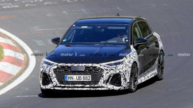Начались испытания нового Audi RS3