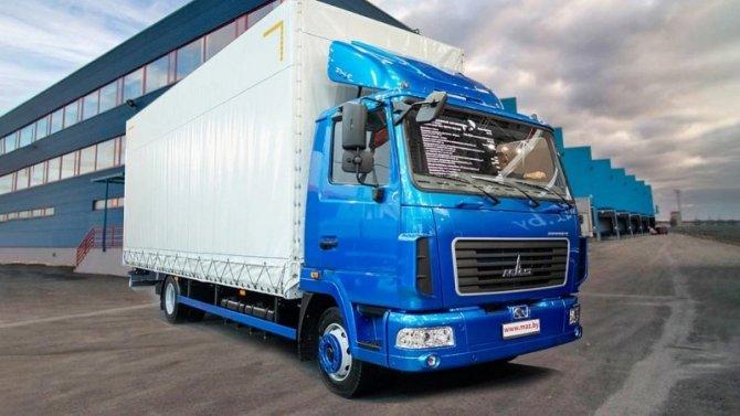 МАЗ представил новый грузовик, который непопадает под действие «Платона»