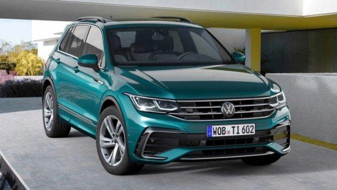 Представлен обновлённый Volkswagen Tiguan