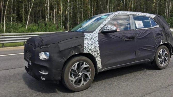 Замечен прототип нового Hyundai Creta для России