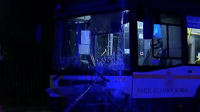 ВДТП савтобусом вМоскве погибло два человека. Появилось видео сместа аварии