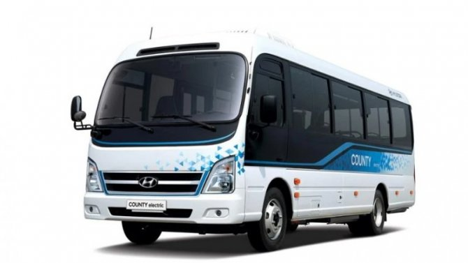 Представлен электрический автобус Hyundai Сounty Electric