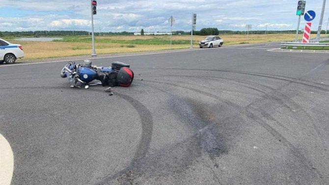 Мотоциклист и девочка пострадали в ДТП в Ржевском районе