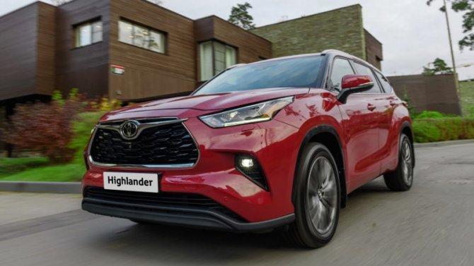 ВРоссии запатентована новая Toyota Highlander