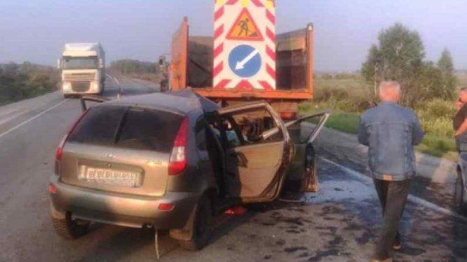 В ДТП с КамАЗом в Новосибирской области погиб человек