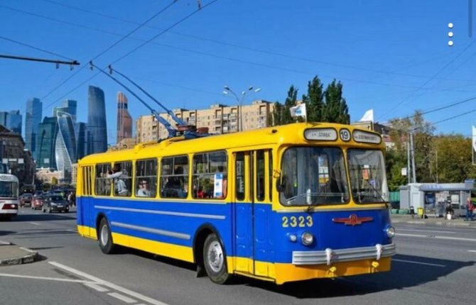 ретротроллейбус в Москве