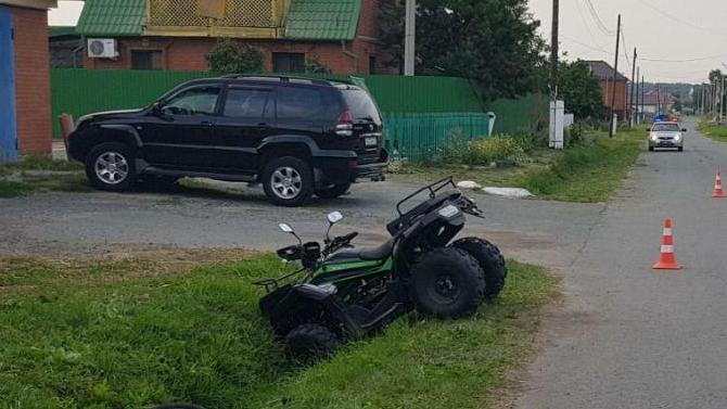 ВТюменской области произошло ДТП сучастием двух детей— один сбил другого