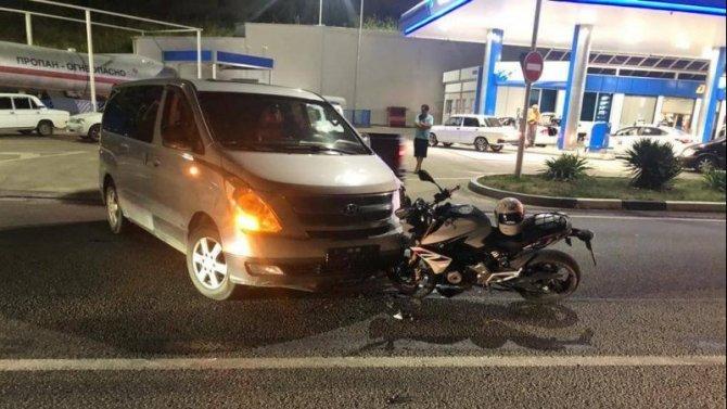 17-летний мотоциклист пострадал в ДТП в Сочи