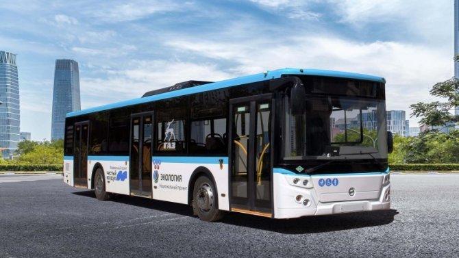 Представлен автобус ЛиАЗ, работающий нагазе