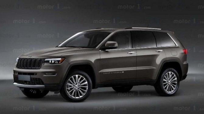 Появились изображения нового Jeep Grand Cherokee