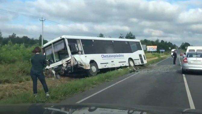 В ДТП с автобусом под Калининградом погиб человек