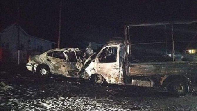 Два человека погибли в ДТП с возгоранием в Башкирии