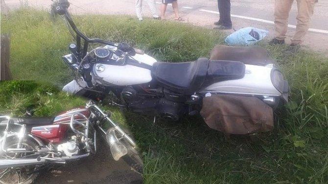 В ДТП с мотоциклом и мопедом в Тверской области пострадали три человека